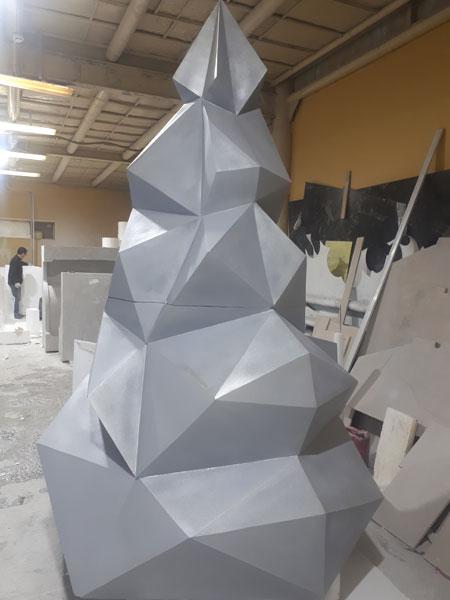Елка из пенопласта, полигональная