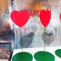 Сердечки на подставке