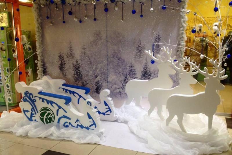 Рождественский декор из пенопласта