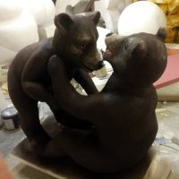 Медведица с медвежонком из пенопласта