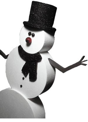 Снеговик пенопластовый