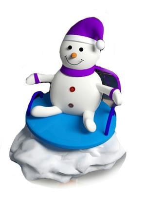 Снеговик из пенопласта сидящий