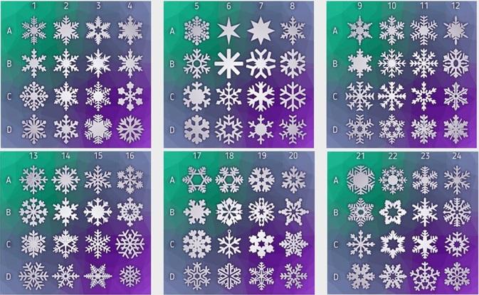 Формы новогодних снежинок из пенопласта