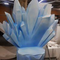 Ледяная друза из пенопласта голубая