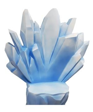 Ледяные кристаллы из пенопласта