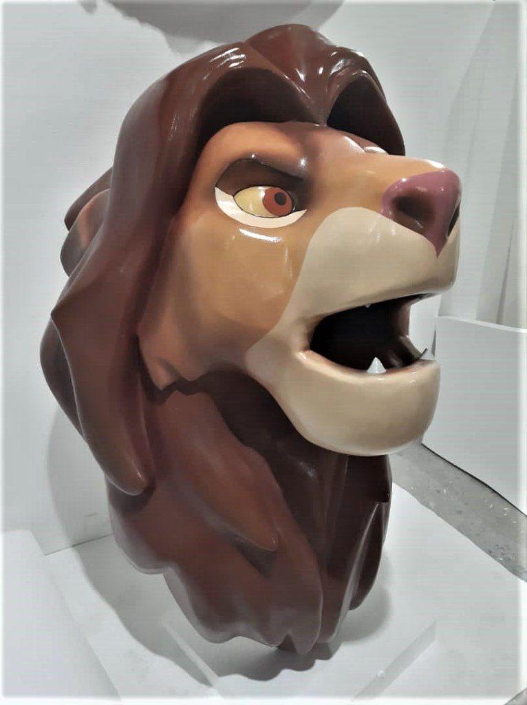 Голова льва из стеклопластика