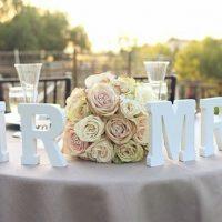 Буквы для крашения стола и зала на свадьбу