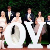 Буквы на свадьбу для красивых фото
