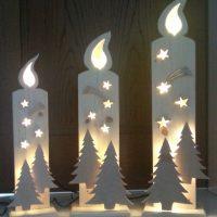 Свечи из пенопласта