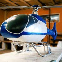 Синий вертолет
