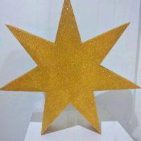 Звезда из пенопласта золотистая